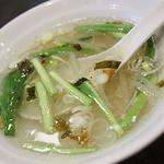 台北飯店 - ランチのスープ
