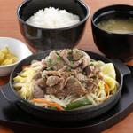 松尾ジンギスカン - ジンギスカン定食 ¥1000