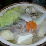 活 紀州本クエ料理 九絵亭 - 天然のクエ鍋です♪良い出汁が出てます~
