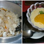 活 紀州本クエ料理 九絵亭 - クエ釜飯/デザートです♪