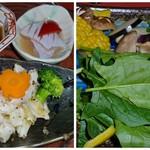 活 紀州本クエ料理 九絵亭 - 焼きクエです♪あと焼き野菜。