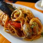 會津バル - 魚介のトマトパスタ
