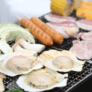 浜焼き海鮮BBQコース食べ放題3,980円(税別)