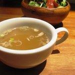 キッチン ククゥ - オムライスのスープ&サラダ