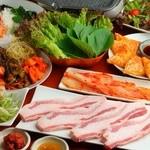 NIGORIZAKE BAR 濁酒本舗 tejimaul - 平牧三元豚焼肉サンギョプサルコース