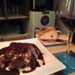 グリグリ - 牛の赤ワイン煮。