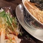47820855 - スパイシー茹で餃子+黒酢とろみラーメン
