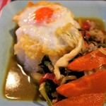 Soul Food Bangkok - 日替わりおかず=豚ひき肉と野菜のオイスター炒め
