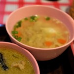 Soul Food Bangkok - スープ、豚ひき肉&大根、人参