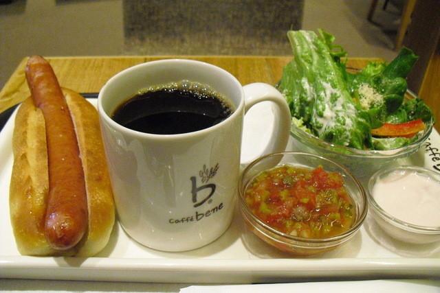 カフェ ベネ 赤坂一ツ木通り店 - サルサドッグセット