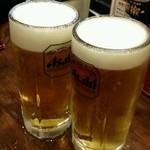 古武士 - 最初はビールで乾杯♪