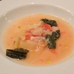 トラットリア ラパーチェ - 2016/02 季節野菜のスープ B.ドルチ(1,980円)