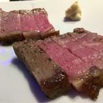 鉄板焼・鍋 ヤマザキ - 自家製ローストビーフ