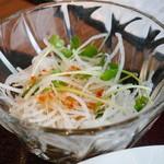 四川飯店 新潟 - セットのサラダ