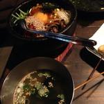 串カツ ジュラク - 石焼きピビンバとスープ