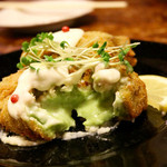 eat 産直野菜とブランド豚工房 - ペーストにしたほうれん草のクリームと蟹身のとろけるクリームコロッケ♪