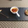 トラットリア・ラッキオ - 料理写真:先付 新ジャガとチーズのフリット 鶏レバーフラン 帆立のミ・キュイ