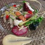 トラットリア・ラッキオ - 冷前菜 トリッパと小さな野菜のバーニャフレッダ