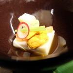 日本料理花ゆず - 料理写真:2016.2)7000円コースのスタートは豆腐とウニ