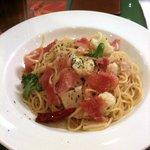 ビバビバ - 生ハムとゆで野菜のペペロンチーノ
