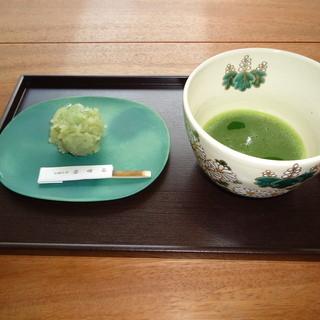 松寿軒のお菓子と抹茶