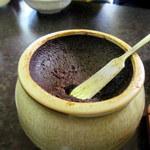 鉄皿多田屋本店 - 特製の辛みそ。けっこう塩がきいています。
