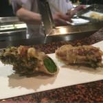 天ぷら 酒菜 醍醐 - 鹿角ポークで巻いた菜の花★