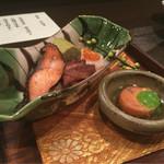 天ぷら 酒菜 醍醐 - この日のお通し