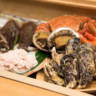 旬の味覚と新鮮な魚介