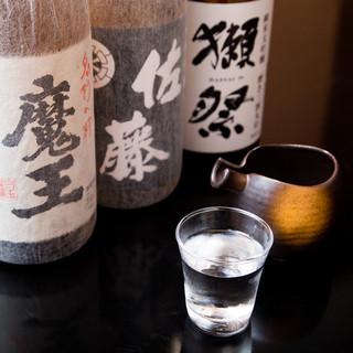 獺祭・魔王・佐藤まで飲み放題に入ってます。