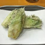 天ぷら 筧 - つぼみ菜
