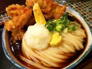 たけうちうどん店 - 鶏天ぶっかけ(大盛)