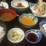 大山 - 刺身天ぷら膳