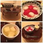 まき村 - デザートはいちごのお汁粉冷製