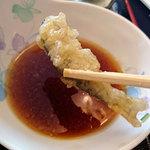 47863227 - 森夢のランチ・ヤマメ天ぷらと鹿そぼろ丼のセット880円