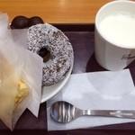 ミスタードーナツ - ポン・デ・ダブルショコラ、ココナッツチョコレート、フランクパイ