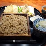 紗羅餐 - 牡蠣と冬野菜の天ぷらと十割蕎麦