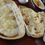 スパイシーキング 松阪店 - ランチバイキングナン3種 チーズ、バター、プレーンの3種食べ放題
