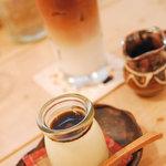 フジヤマプリン - 黒糖プリン!&アイスカフェオレ