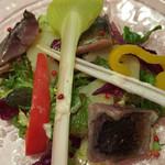 ラブレー - 鯖とじゃがいものサラダ。
