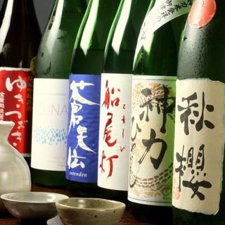 全国より厳選した【こだわりの日本酒】季節によりおススメ品あり