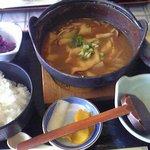 Yamasaki - だんご汁定食を注文☆