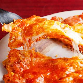 【隠れ名物!】とろーりチーズが美味なキムチチーズチヂミ