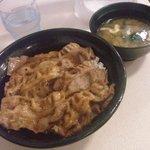 47889455 - 焼き牛丼(味噌汁付)430円