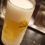 本格焼肉 寿香苑 あまつぼ - ちょっと凍ってる生ビール