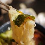 本格焼肉 寿香苑 あまつぼ - 冷麺。さっぱりとしたスープ