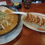 幸楽苑 新琴似店 - 味噌野菜ラーメン+餃子