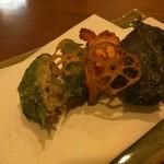 食堂ペスカバ - 蓮根のすり身揚げ
