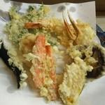 いもや - 海鮮天ぷら定食+椎茸追加