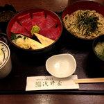 Asanoya - マグロ丼とミニせいろのセット1296円